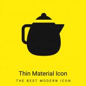 Große Teekanne minimal leuchtend gelbes Material Symbol