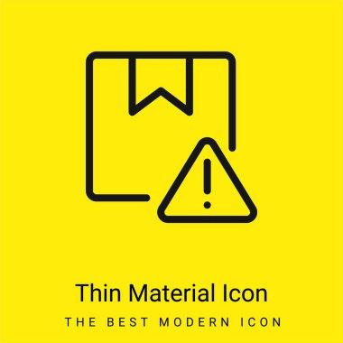 Alert minimal bright yellow material icon