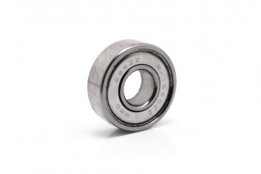 ball bearings isolated on white background