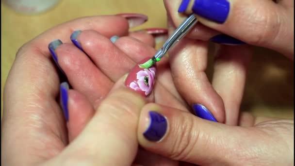 Schilderij Nagels Nail Art Stockvideo Gorgolyuk 90148390