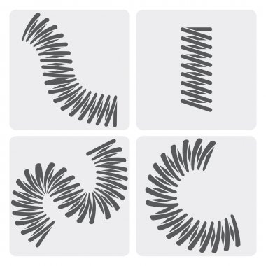 Set of vector metal springs icons