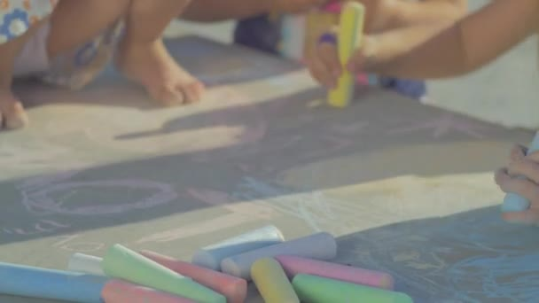 Picking chalk and drawing