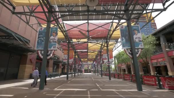 Walking under the APS Solar Pavilion