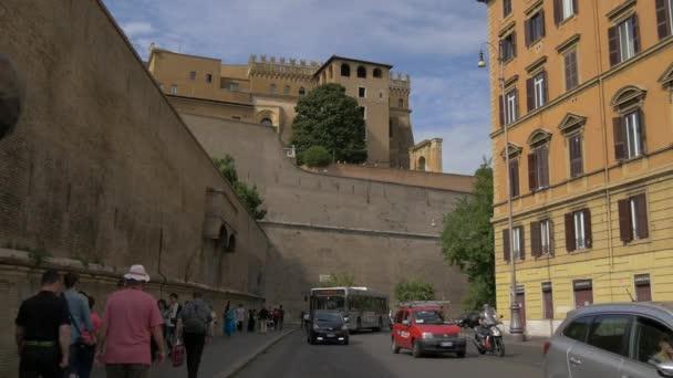 Traffic by the Vatican walls, Vatican