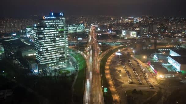 Pohled na Bratislavu v noci