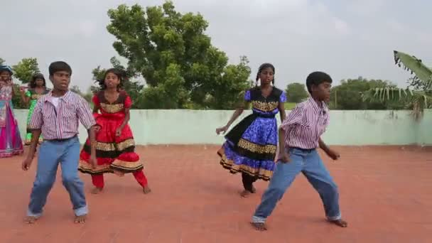 Group of Indian kids dancing, India, travel concept