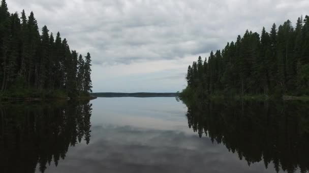 Forests and lake on a cloudy day
