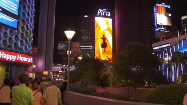 Aria Casino Zeichen in der Nacht in Las Vegas, Nevada