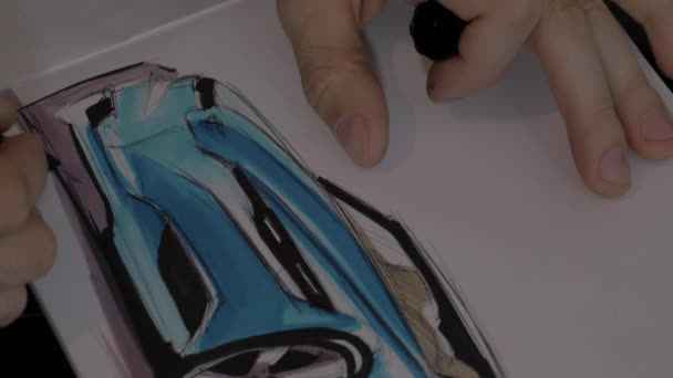 footage of Drawing car shadows