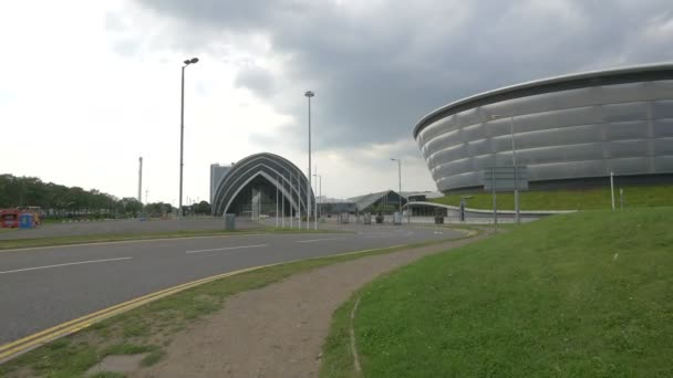 A street leading to SECC in Glasgow