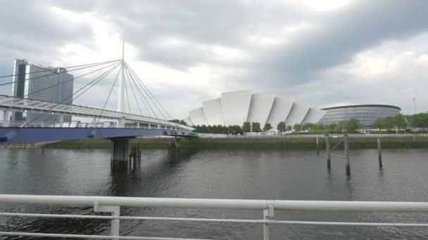 A bridge and modern buildings