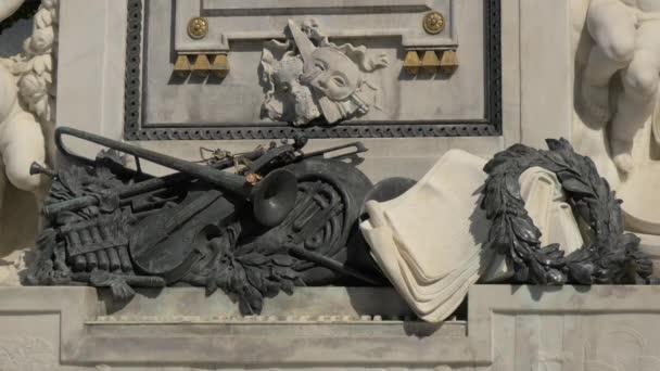 The sculptural details of Mozart monument