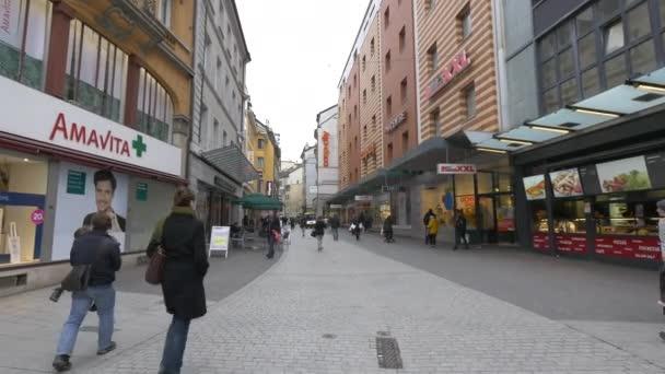 Obchody a restaurace na Rue Saint-Laurent