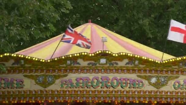 Flags on a carousel