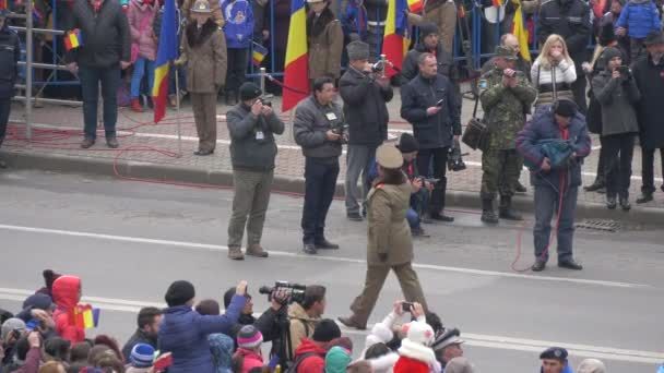 Marching at the Romanian National Day parade in Alba Iulia
