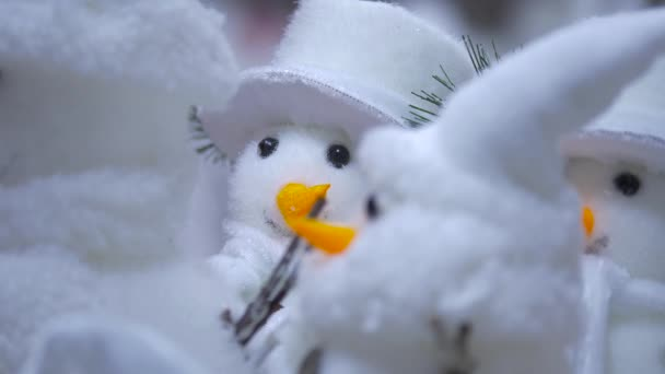 Zblízka sněhuláka dekorace