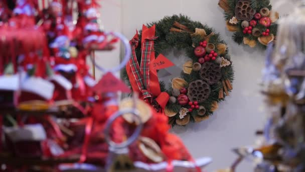 Dekorovaný vánoční věnec, sváteční koncept