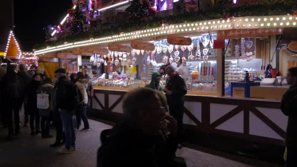 Stall with gingerbread at a Christmas market