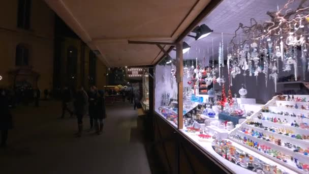 Stall with ornaments at a Christmas market, Frankfurt