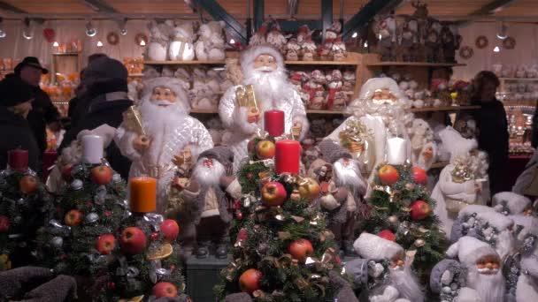 View of Santa Claus souvenirs