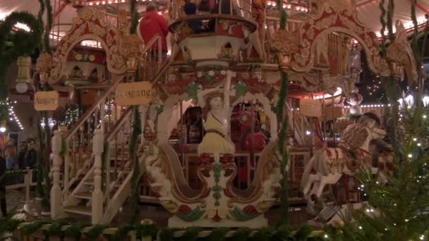 Decorated carousel at a Christmas Market
