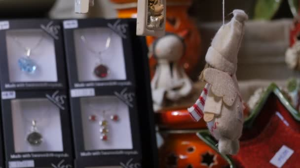 Christmas tree ornaments and souvenirs