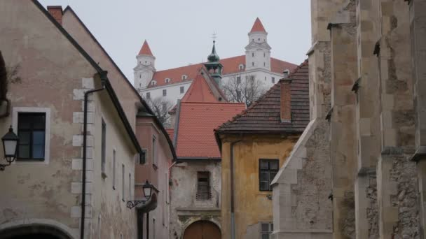 Bratislavský hrad z města