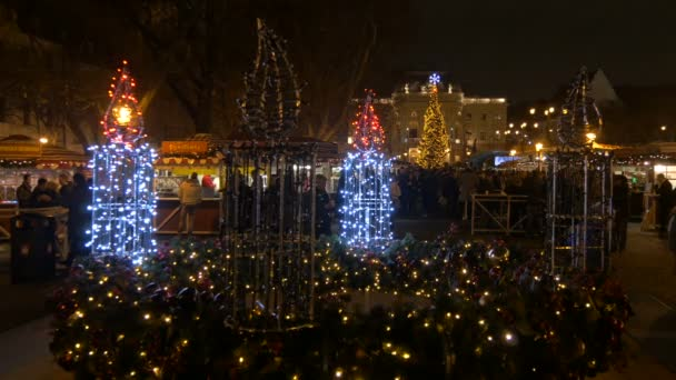 Christmas Market in Bratislava, at night