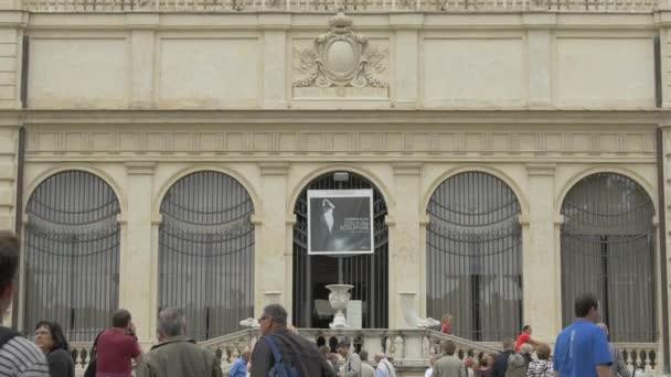 Galerie Borghese a fasáda muzea v Římě