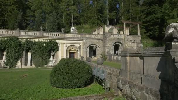 The terraced yard of Peles Castle