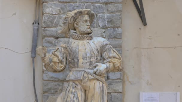 view of Medieval knight statue