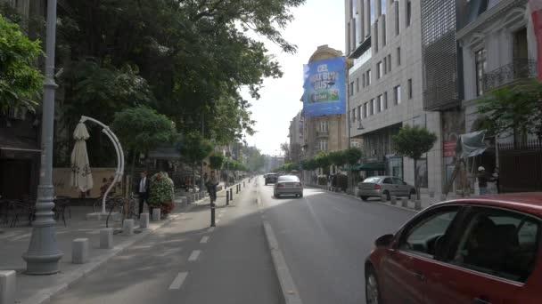 Street in Bucharest, travel concept