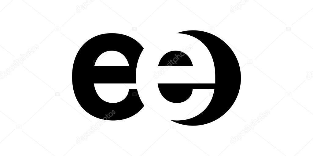 Monogram negative Space Letter Logo ee, e e — Stock Vector ...