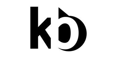 Monogram negative Space Letter Logo kb , k b
