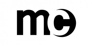 Monogram negative Space Letter Logo mc , m c