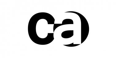 Monogram negative Space Letter Logo ca , c a