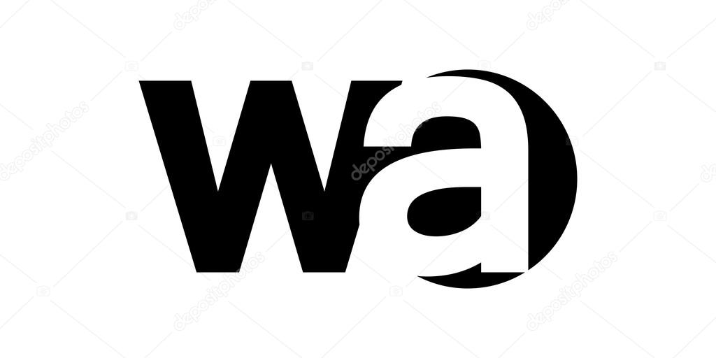 negative space letters monogram negative space letter logo wa w a grafika 23758 | depositphotos 94550072 stock illustration monogram negative space letter logo