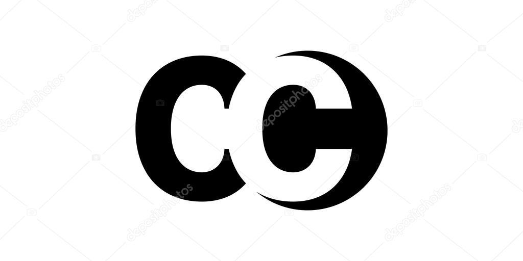 Monogram Negative Space Letter Logo Cc C C Stock Vector C Depositvectors 94550392