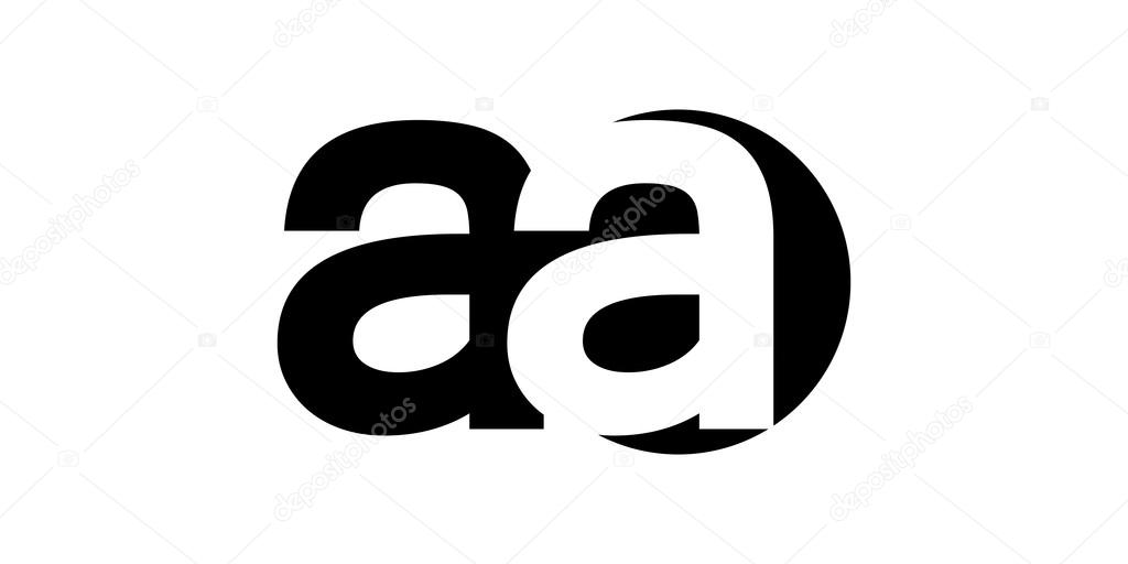 Monogram Negative Space Letter Logo Aa A A Stock Vector