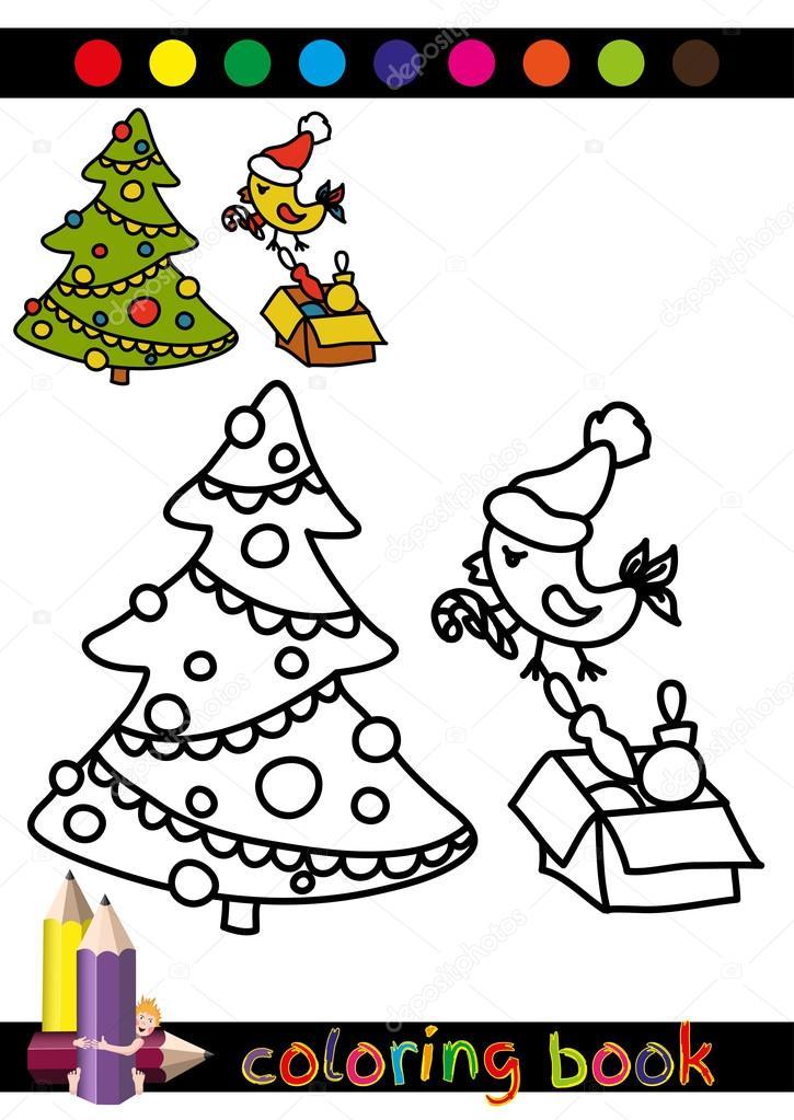 Libros de navidad para descargar | Colorear árbol libro o página de ...