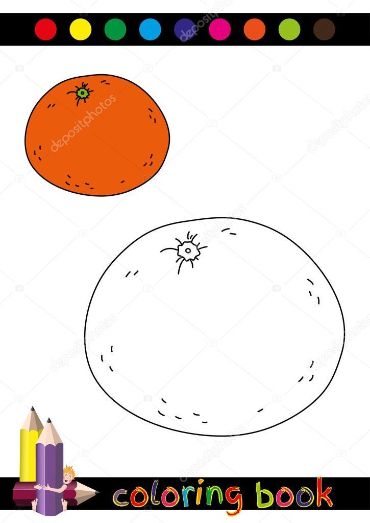 Disegni Da Colorare Libro O Pagina Del Fumetto Arancio Divertente