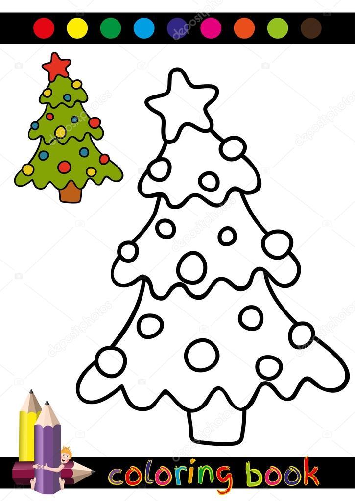 Dibujos Navidad Para Descargar Colorear Arbol Libro O Pagina De