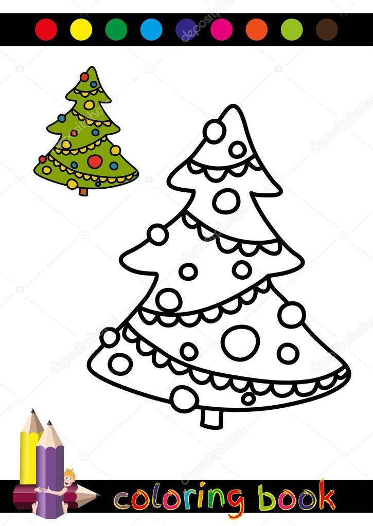 Ilustración de curioso árbol de Navidad — Archivo Imágenes ...