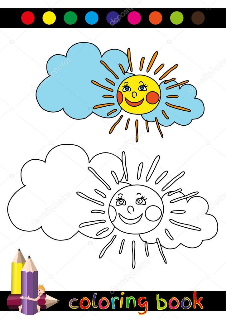塗り絵や子供用ページ漫画イラスト ストックベクター Alionamanakova