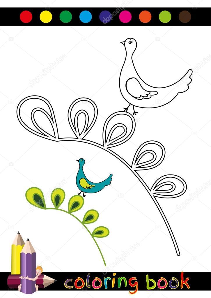 Kitap Veya Komik Güvercin Resmi Sayfa çizgi Film çocuklar Için