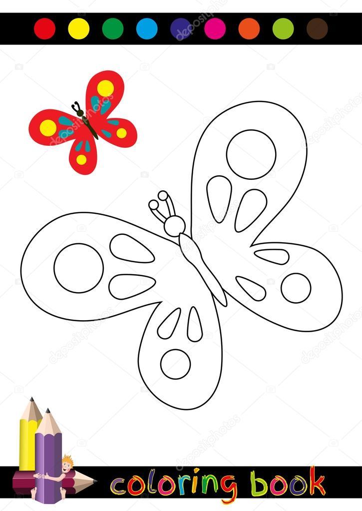 Libro para colorear o ilustración de la página de dibujos animados ...