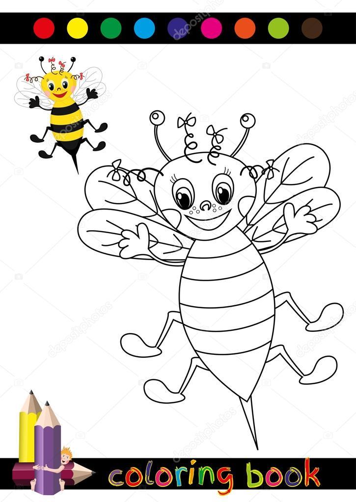Libro para colorear o página de dibujos animados ilustración de ...