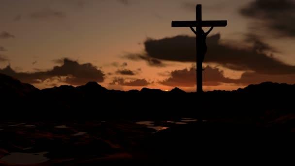 Jézus a kereszt napkeltekor
