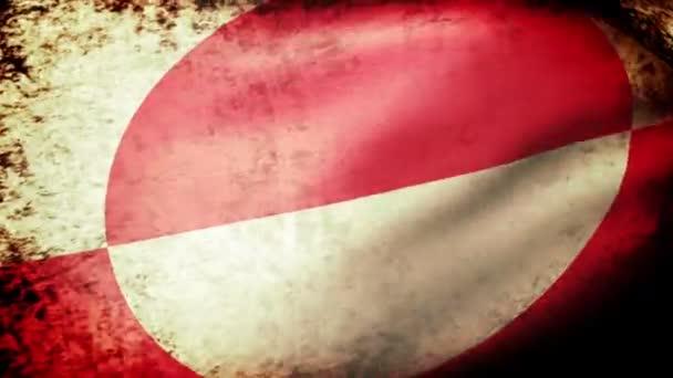 Greenland flag waving