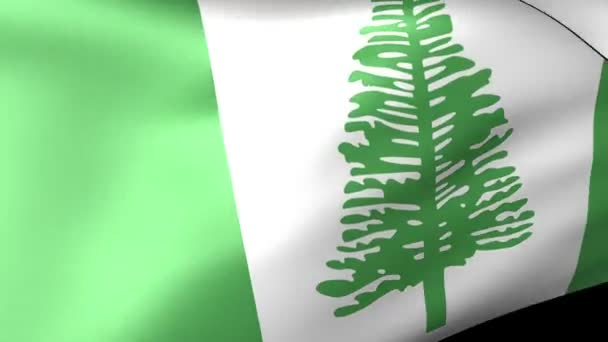Norfolk zászlót lengetve